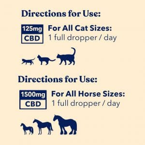 Honest Paws CBD Oil for Cats - Directions for Use