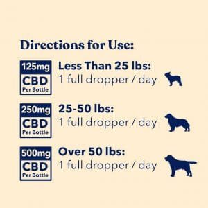 Honest Paws CBD Oil for Dogs - Directions of Use