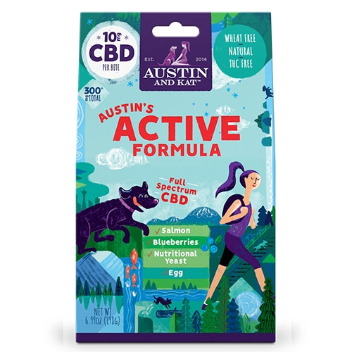 Austin's Active Recovery with Salmon by Austin and Kat CBD Review
