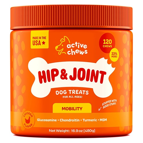 Active Chews for Dogs with Glucosamine and Turmeric - Review