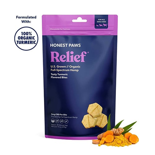 Honest Paws Relief CBD Dog Treats with Turmeric Review